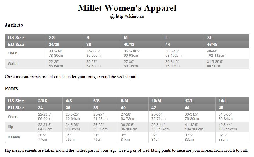 Millet Climbing Shoes Sizing